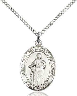 Our Lady of Knots Necklace Sterling Silver