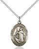 St. Raymond of Penafort Pendant St. Raymond Of Penafort ,Athletes and Soldiers,Patron Saints,Patron Saints - S, sterling silver medals, gold filled medals, patron, saints, saint medal, saint pendant, saint necklace, 8385,7385,9385,7385SS,8385SS,9385SS,7385GF,8385GF,9385GF,