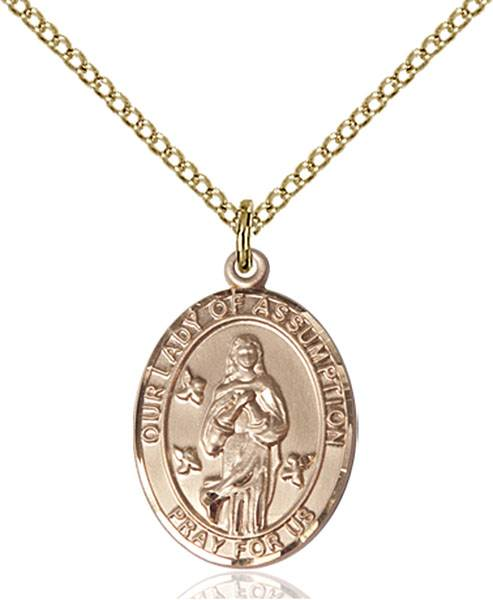 Our Lady of Assumption Necklace Sterling Silver