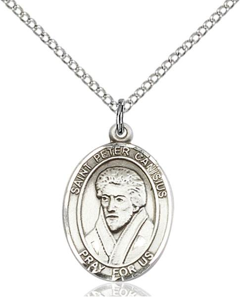 St. Peter Canisius Pendant St. Peter Canisius ,Catholic Press and Germany,Patron Saints,Patron Saints - P, sterling silver medals, gold filled medals, patron, saints, saint medal, saint pendant, saint necklace, 8393,7393,9393,7393SS,8393SS,9393SS,7393GF,8393GF,9393GF,