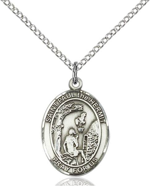 Paul The Hermit Pendant Paul The Hermit,Patron Saints,Patron Saints - P, sterling silver medals, gold filled medals, patron, saints, saint medal, saint pendant, saint necklace, 8394,7394,9394,7394SS,8394SS,9394SS,7394GF,8394GF,9394GF,
