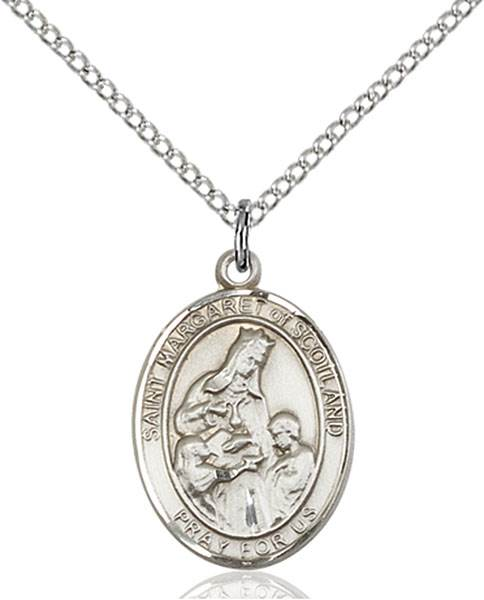 St. Margaret Necklace Sterling Silver