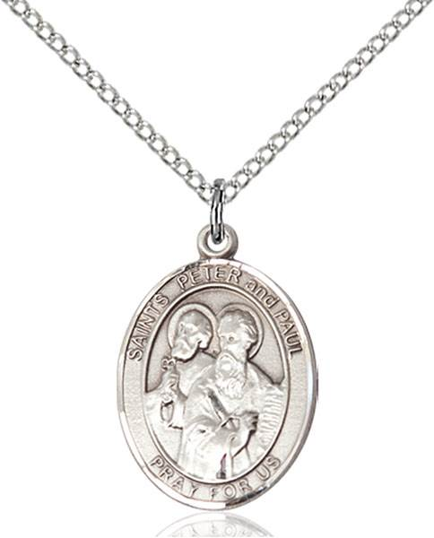St. Peter / St. Paul Pendant St. Peter / St. Paul,Patron Saints,Patron Saints - P, sterling silver medals, gold filled medals, patron, saints, saint medal, saint pendant, saint necklace, 8410,7410,9410,7410SS,8410SS,9410SS,7410GF,8410GF,9410GF,