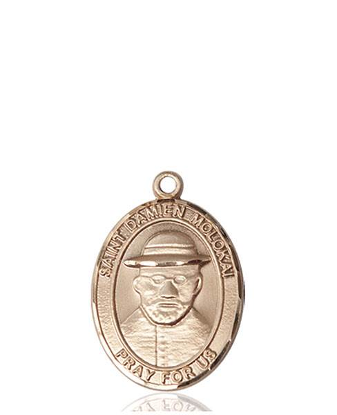 St. Damien of Molokai Necklace Solid Gold