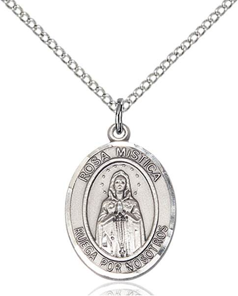 Our Lady of Rosa Necklace Sterling Silver