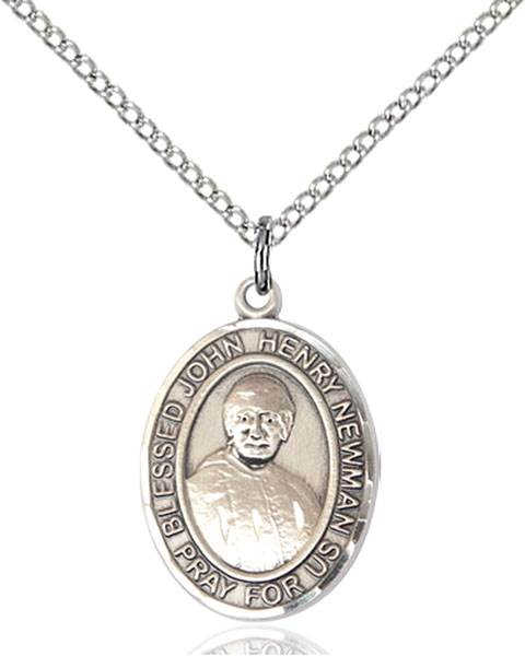 Blessed John Henry Newman Pendant Blessed John Henry Newman,Patron Saints,Patron Saints - J, sterling silver medals, gold filled medals, patron, saints, saint medal, saint pendant, saint necklace, 8423,7423,9423,7423SS,8423SS,9423SS,7423GF,8423GF,9423GF,