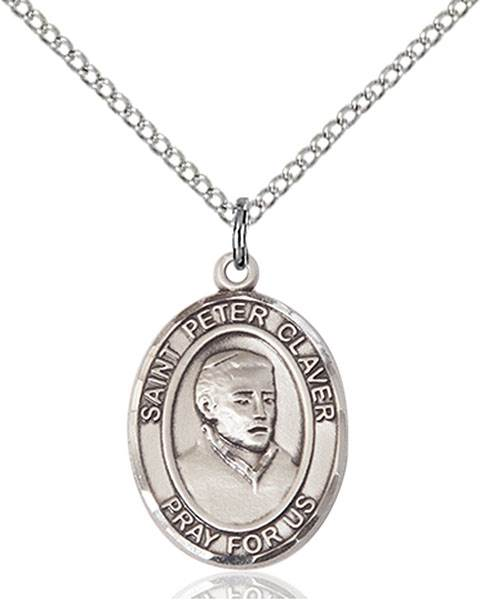 St. Peter Claver Pendant St. Peter Claver ,Against Slavery,Patron Saints,Patron Saints - P, sterling silver medals, gold filled medals, patron, saints, saint medal, saint pendant, saint necklace, 8442,7442,9442,7442SS,8442SS,9442SS,7442GF,8442GF,9442GF,