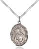 St. Edmund of East Anglia Pendant St. Edmund Of East Anglia ,Against Plague,Patron Saints,Patron Saints - E, sterling silver medals, gold filled medals, patron, saints, saint medal, saint pendant, saint necklace, 8445,7445,9445,7445SS,8445SS,9445SS,7445GF,8445GF,9445GF,