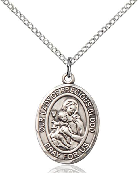 Our Lady of the Precious Blood Necklace Sterling Silver