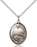 Pope Francis Necklace Sterling Silver