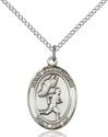 St. Christopher/Track&Field Pendant