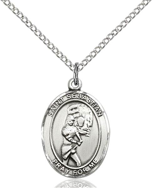St. Sebastian / Softball Pendant St. Sebastian / Softball ,Athletes and Soldiers,Patron Sports,Softball, sterling silver medals, gold filled medals, patron, saints, saint medal, saint pendant, saint necklace, 8607,7607,9607,7607SS,8607SS,9607SS,7607GF,8607GF,9607GF,