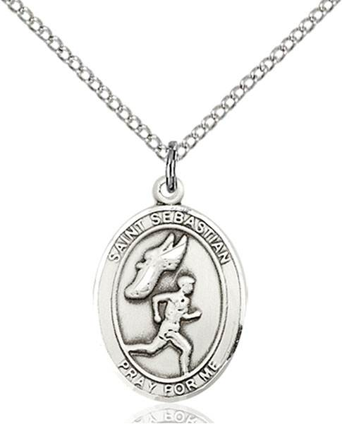St. Sebastian / Track & Field Pendant St. Sebastian / Track & Field ,Athletes and Soldiers,Patron Sports,TrackField, sterling silver medals, gold filled medals, patron, saints, saint medal, saint pendant, saint necklace, 8609,7609,9609,7609SS,8609SS,9609SS,7609GF,8609GF,9609GF,
