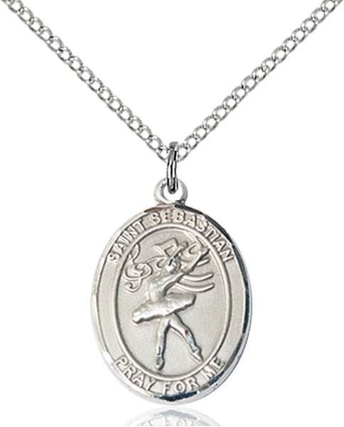 St Sebastian / Dance Pendant St Sebastian / Dance ,Athletes and Soldiers,Patron Sports,Dance, sterling silver medals, gold filled medals, patron, saints, saint medal, saint pendant, saint necklace, 8612,7612,9612,7612SS,8612SS,9612SS,7612GF,8612GF,9612GF,