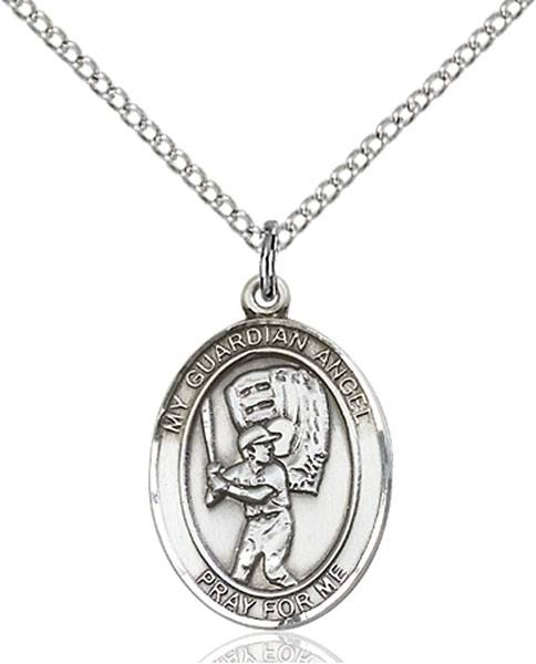 Guardian Angel / Baseball Pendant Guardian Angel / Baseball,Patron Sports,Baseball, sterling silver medals, gold filled medals, patron, saints, saint medal, saint pendant, saint necklace, 8700,7700,9700,7700SS,8700SS,9700SS,7700GF,8700GF,9700GF,