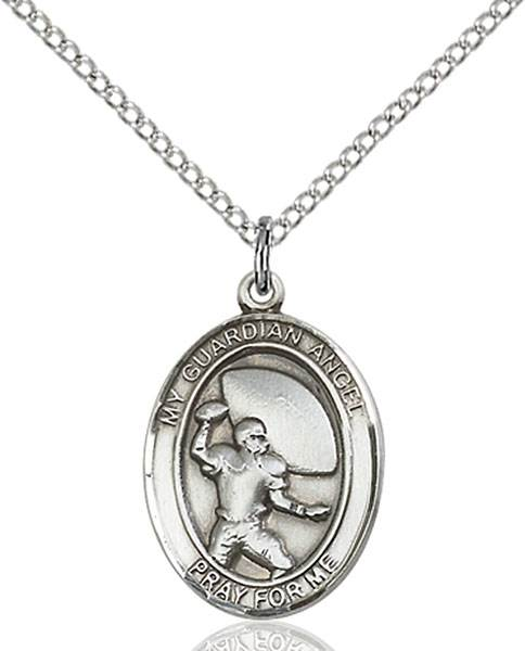 Guardian Angel / Football Pendant Guardian Angel / Football,Patron Sports,Football, sterling silver medals, gold filled medals, patron, saints, saint medal, saint pendant, saint necklace, 8701,7701,9701,7701SS,8701SS,9701SS,7701GF,8701GF,9701GF,
