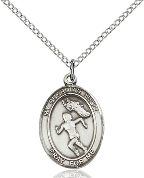 Guardian Angel/Track&Field Pendant Guardian Angel/Track&Field,Patron Sports,Track&Field, sterling silver medals, gold filled medals, patron, saints, saint medal, saint pendant, saint necklace, 8710,7710,9710,7710SS,8710SS,9710SS,7710GF,8710GF,9710GF,