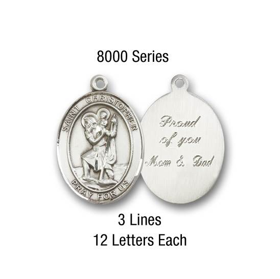 St. Joseph Necklace Engraving