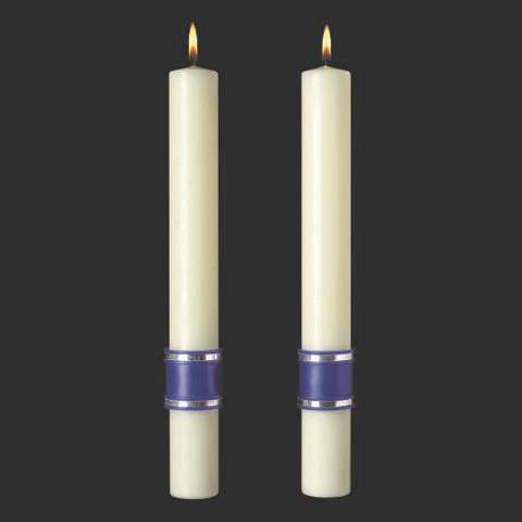 Messiah Complementing Altar Candles