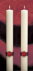 Cross of the Lamb Complementing Altar Candles