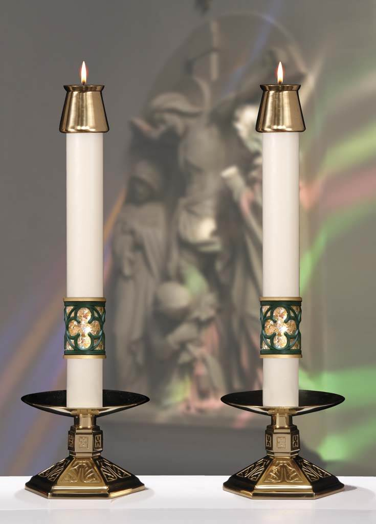 Christus Rex Complementing Altar Candles