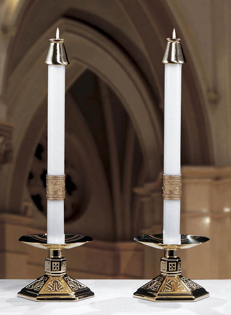 Cross of Erin Complementing Altar Candles