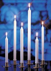 "3/4"" x 6-3/4"" Stearine Brand White Molded Candles"