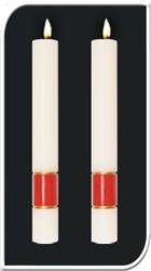 Gloria Side Altar Candles