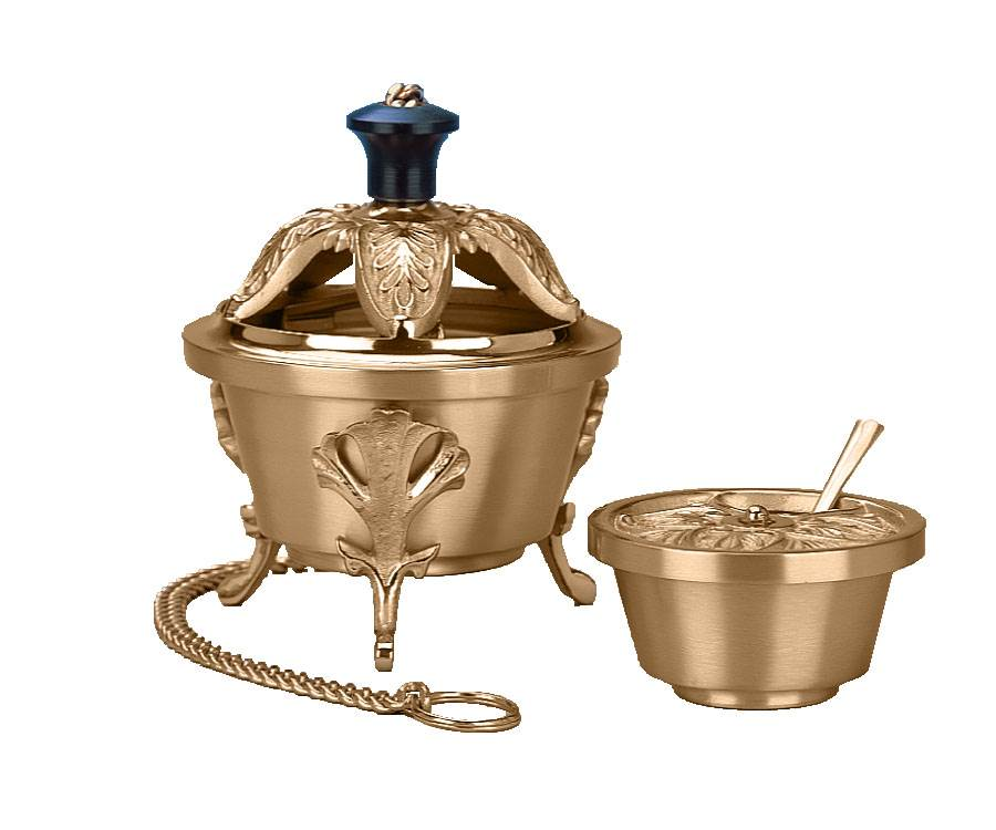389-123L Censer and Boat  Censer, Boat, 389-123, Progressive Bronze, charcoal, sanctuary, sanctuary appointments, excelsis