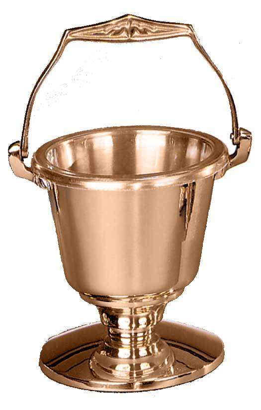216-29 Holy Water Pot and Sprinkler holy water, pot, sprinkler, church goods, church supplies, 216-29, high polish ,satin