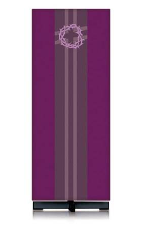 62-5117 Purple Crown of Thorns Lectern Cover 62-5117, lectern, slabbinck, lectern cover, ambo cover, ambo