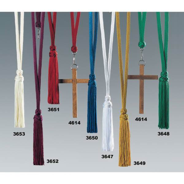 Cord with Hand-made Tassel Cord with Tassel, Acolyte, Tasseled Cord, Server Cord, Lanyard, Acolyte Cord, 3653, 3652, 3651, 4614, 3650, 3647, 3649, 3648