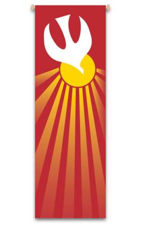 Red Holy Spirit Banner
