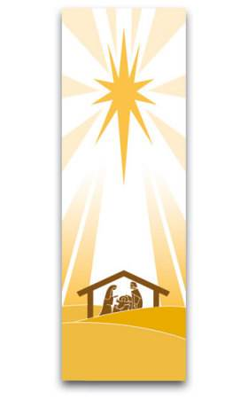 White Christmas Banner 7126, 7226, banners, church banners, advent, christmas, creche, christmas banner, white, decoration, church decoration, decor, church decor, wall hangings, sanctuary appointments, appointments
