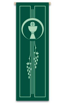 Green Chalice, Host and Grapevine Banner
