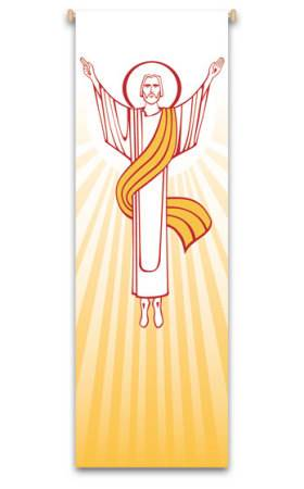 Resurrection Banner 7135, banners, banner, Resurrection Banner, Easter Banner, Easter, Risen Christ Banner, decoration, church decoration, decor, church decor, wall hangings, sanctuary appointments, appointments