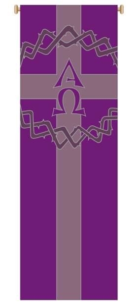 Purple Crown of Thorns/Alpha Omega Banner