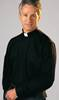 Classico Black Long Sleeve Clergy Shirt by Slabbinck