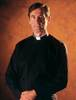 Romano Black Long Sleeve Clergy Shirt by Slabbinck
