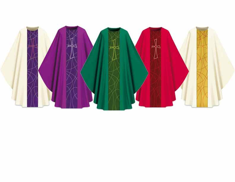 5230 Gothic Chasuble in Dupion Fabric - SL5230
