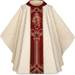 5233 White Gothic Chasuble with Divine Mercy Panel