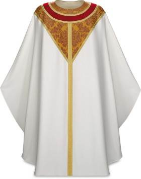 5236 Beige Gothic Chasuble in Vaticano Fabric