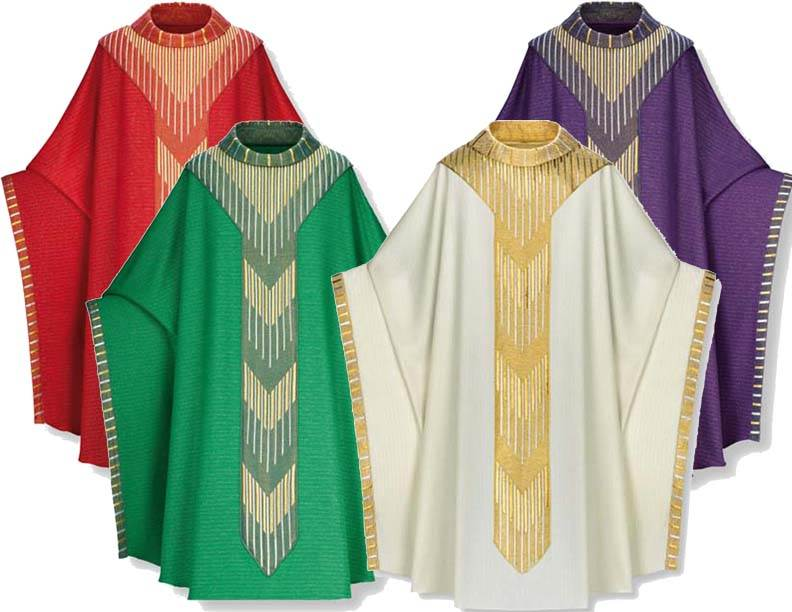 2-3850 Monastic Chasuble in Cantate Fabric 2-3850, 3850 Chasuble, Slabbinck, Slabbinck®,  vestment,  robe, clergy apparel, cantate, monastic