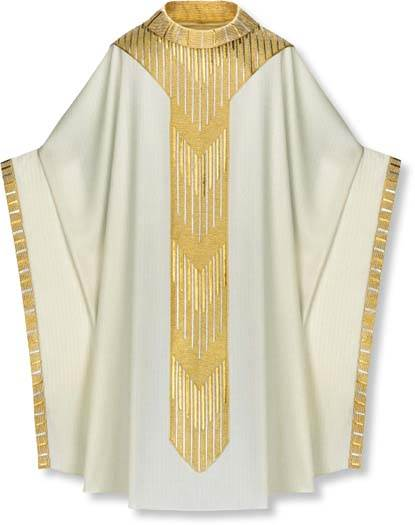 2-3850 Monastic Chasuble in Cantate Fabric - SL2-3850