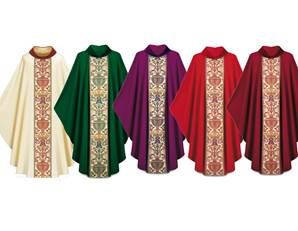 2749-4 Regina Gothic Chasuble in Dupion Fabric
