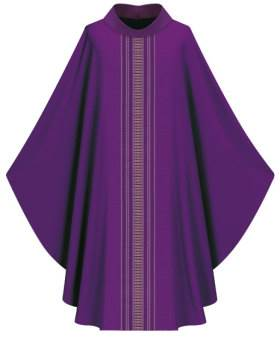 3111-4 Ornata Gothic Chasuble in Brugia Fabric - SL3111-4