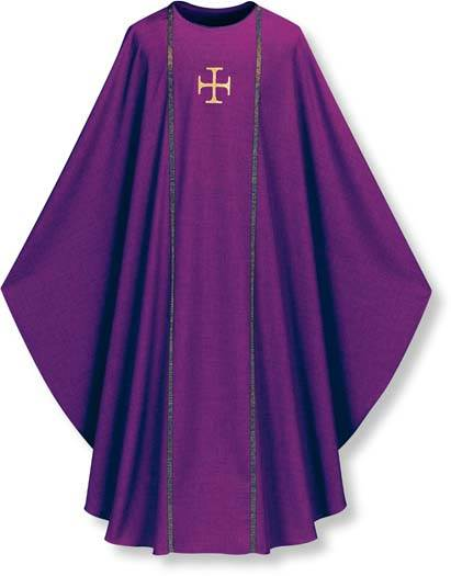 3576 Washable Pius Chasuble - SL3576