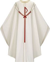 5090 Gothic Chasuble in Dupion Fabric