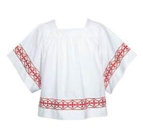 113B Abbey Brand Banded Cross Surplice altar surplice, vestments, church apparel, server vestments, 113B