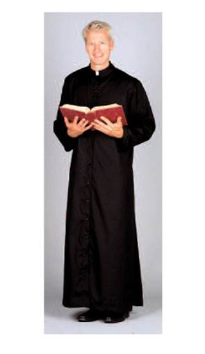 216 Abbey Brand Cassock adult cassock, snap front, button front, roman cassock, church apparel, alter textile, vestments, adult server, 216s, 216u